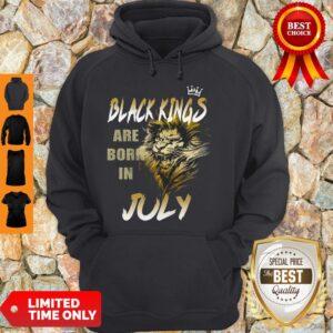 Original Lion Black Kings Are Born In July Hoodie
