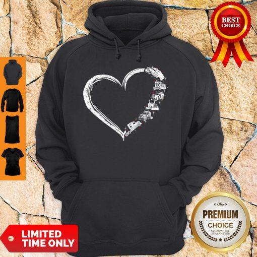 Original Heart Truck I Love Trucker Hoodie
