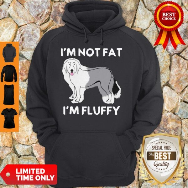 Funny I'm Not Fat I'm Fluffy Old English Sheepdog Hoodie