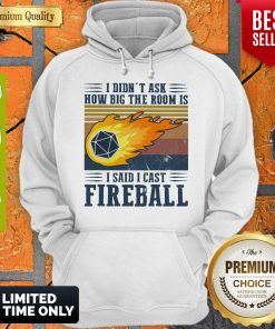 Pretty I Didn't Ask How Big The Room Is I Said I Cast Fireball Vintage ShirtPretty I Didn't Ask How Big The Room Is I Said I Cast Fireball Vintage Hoodie