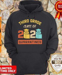 Third Grade Class Of 2020 Toilet Paper Quarantined Vintage Hoodie