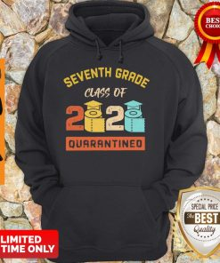Seventh Grade Class Of 2020 Toilet Paper Quarantined Vintage Hoodie
