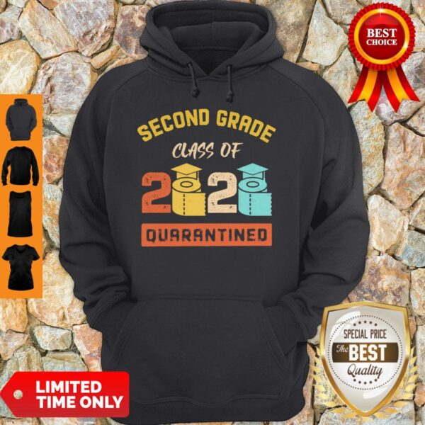 Second Grade Class Of 2020 Toilet Paper Quarantined Vintage Hoodie