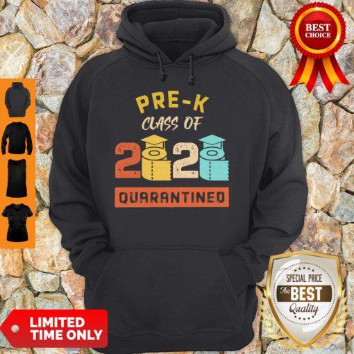 Pre-K Class Of 2020 Toilet Paper Quarantined Vintage Hoodie