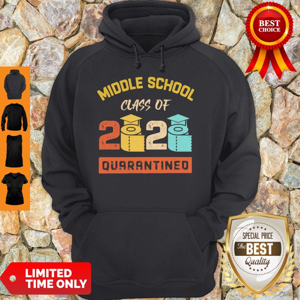 Middle School Class Of 2020 Toilet Paper Quarantined Hoodie