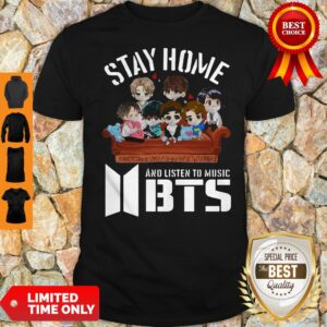 Official Stay Home And Listen To Music BTS Coronavirus Shirt
