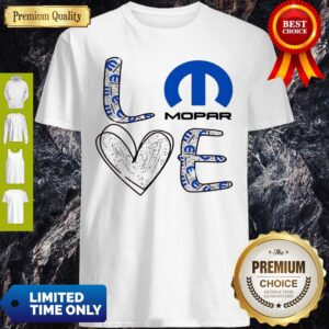 Awesome Glitter Love Mopar Logo Shirt