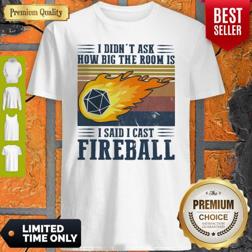 Pretty I Didn't Ask How Big The Room Is I Said I Cast Fireball Vintage ShirtPretty I Didn't Ask How Big The Room Is I Said I Cast Fireball Vintage Shirt
