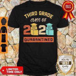 Third Grade Class Of 2020 Toilet Paper Quarantined Vintage Shirt