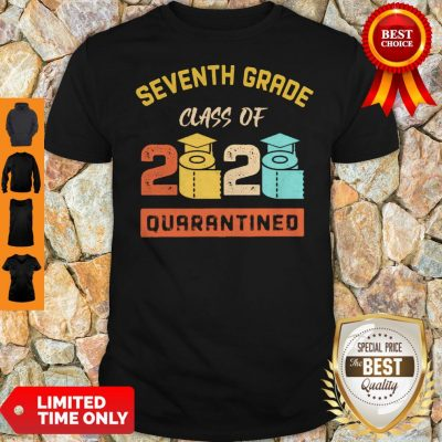 Seventh Grade Class Of 2020 Toilet Paper Quarantined Vintage Shirt