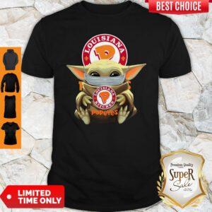 Original Baby Yoda Face Mask Louisiana Kitchen Shirt