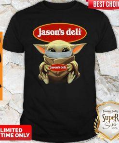 Awesome Baby Yoda Face Mask Jason's Deli Shirt