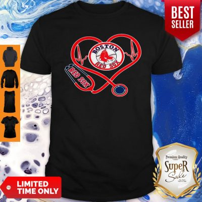 Awesome Boston Red Sox Stethoscope Heart Shirt