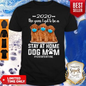 Top 2020 The Year I Got To Be A Stay At Home Poodle Dog Mom Quarantine Shirt