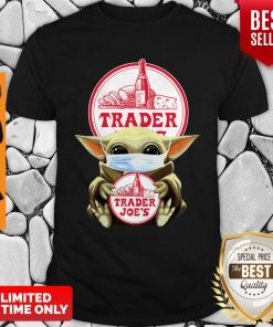 Original Baby Yoda Mask Hug Trader Joe's Shirt