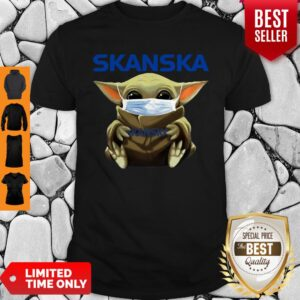 Awesome Baby Yoda Mask Hug Skanska Coronavirus Shirt