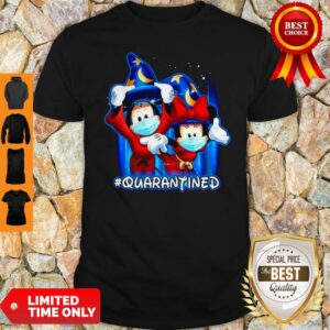 Top Wizard Mickey And Minnie Mouse Mask #Quarantined Coronavirus Shirt