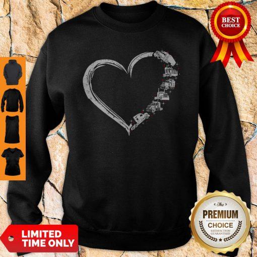 Original Heart Truck I Love Trucker Sweatshirt