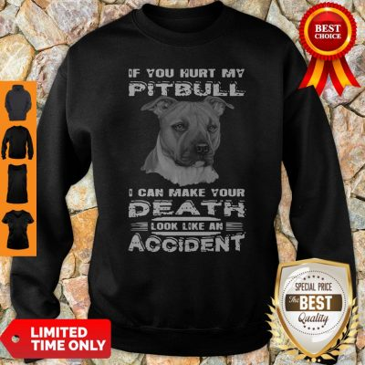 If You Hurt My Pitbull I Can Make Your Death Look Like An Accident Sweatshirt