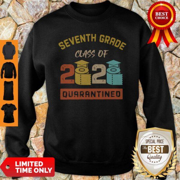 Seventh Grade Class Of 2020 Toilet Paper Quarantined Vintage Sweatshirt