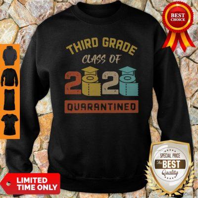 Third Grade Class Of 2020 Toilet Paper Quarantined Vintage Sweatshirt