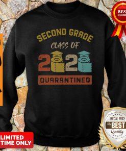 Second Grade Class Of 2020 Toilet Paper Quarantined Vintage Sweatshirt