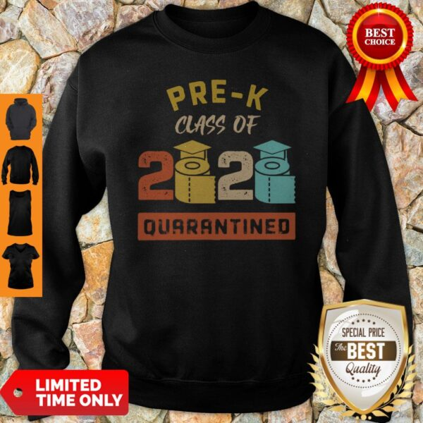 Pre-K Class Of 2020 Toilet Paper Quarantined Vintage Sweatshirt
