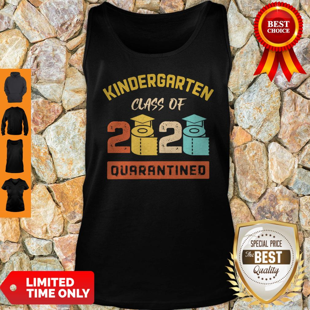 Kinder Garten Class Of 2020 Toilet Paper Quarantined Vintage Tank Top