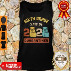 Sixth Grade Class Of 2020 Toilet Paper Quarantined Vintage Tank Top