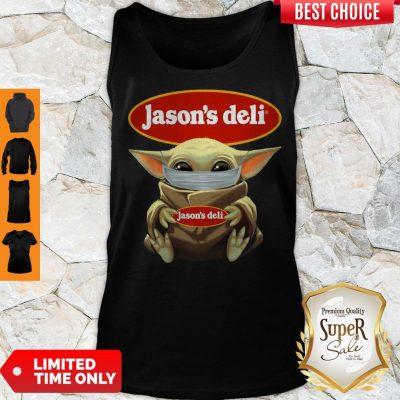 Awesome Baby Yoda Face Mask Jason's Deli Tank Top