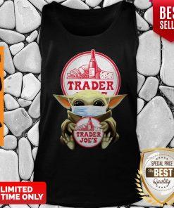 Original Baby Yoda Mask Hug Trader Joe's Tank Top