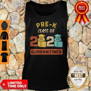 Pre-K Class Of 2020 Toilet Paper Quarantined Vintage Tank Top