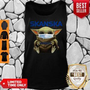 Awesome Baby Yoda Mask Hug Skanska Coronavirus Tank Top