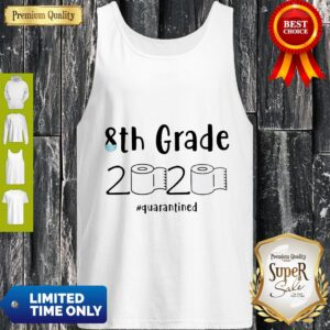 Awesome 8th Grade 2020 Quarantined Social Distancing Tank Top
