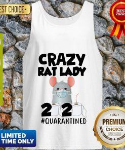 Original Crazy Rat Lady 2020 Quarantined Tank Top