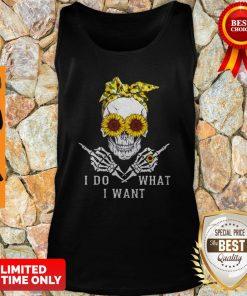 Premium Sunflower Skull I Do What I Want Tank Top