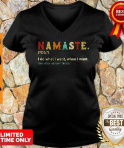 Namaste Noun I Do What I Want When I Want See Also Mother Fucker V-neck