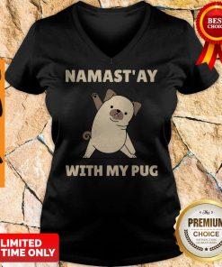 Original Namast' Ay At Home With My Pug V-neck
