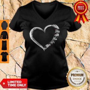 Original Heart Truck I Love Trucker V-neck