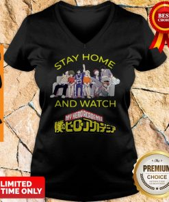 Official Stay Home And Watch My Hero Academia The Movie V-neck
