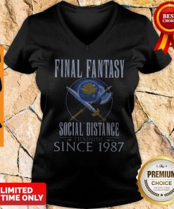 Top Final Fantasy Social Distance Training Since 1987 V-neck