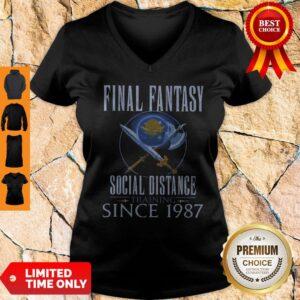 Top Final Fantasy Social Distance Training Since 1987 V-neck