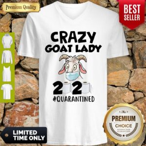 Original Crazy Goat Lady 2020 Quarantined V-neck