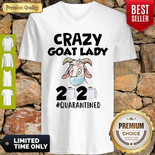 Original Crazy Goat Lady 2020 Quarantined V-neck