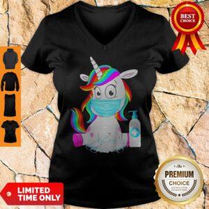 Awesome Unicorn In Quarantined V-neck
