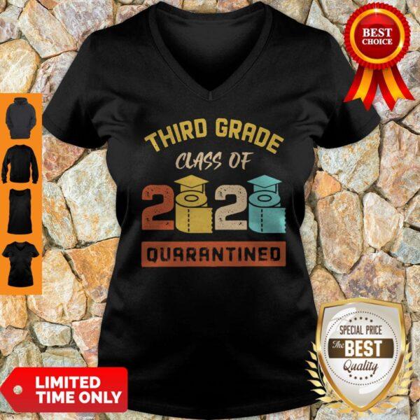Third Grade Class Of 2020 Toilet Paper Quarantined Vintage V-neck