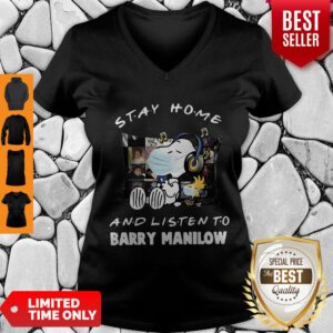 Good Snoopy Stay Home And Listen To Barry Manilow Coronavirus V-neck