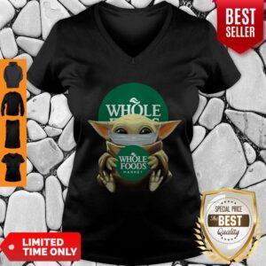 Awesome Baby Yoda Mask Hug Whole Foods Market V-neck