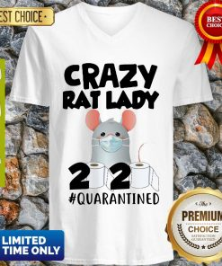 Original Crazy Rat Lady 2020 Quarantined V-neck