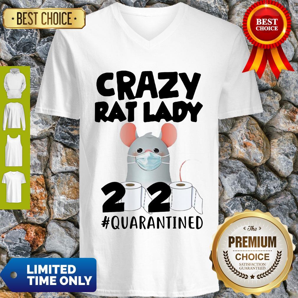 Original Crazy Rat Lady 2020 Quarantined V-neck